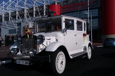 Vintage style wedding cars and limousines