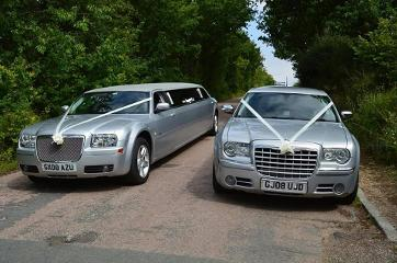 Chrysler baby Bentey wedding car hire in Middlesbrough, Stockton, Hartlepool and the north east.
